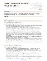 Logistics Management Specialist Resume Samples Qwikresume