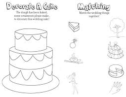 Third Page Wedding Coloring Book Free Wedding Activity Pages With