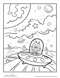 8921d384263bf70206a8231adb0f6f44 ufo coloring page worksheet, coloring pages and coloring on space worksheets for kids
