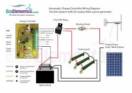 picture of charge controller wiring diagram for diy wind turbine or solar panels