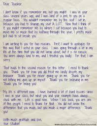 Thank You Note From Student Dear Teacher Love Teacher