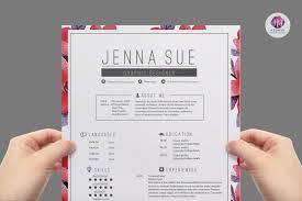 Feminine Resume Template Resume Templates On Thehungryjpeg Com