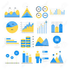 Infographic Vector Elements Set Of Financial And Marketing Charts