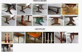 most popular dining table leg styles