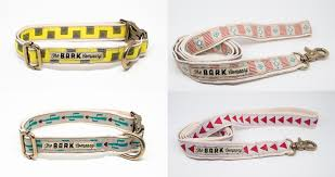 handmade collars and leashes from the bark co