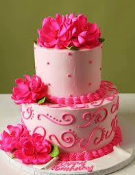 Red Flowers Birthday Cakered Velvet Cake Red Cake With Flower