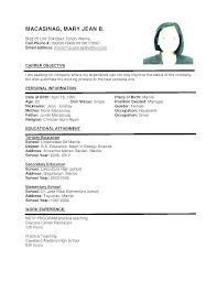 Resume Sample Examples Sample Of A Resume Format Latest Professional Awesome Proper Resume