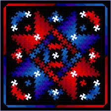 quilt pattern | & Twister Shimmer Kona Patriotic Adamdwight.com