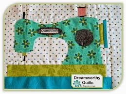 158 best A Quilt - Sewing Theme images on Pinterest | Comics ... & Row 1 Good Vibrations Sewing Machine Blocks by DreamworthyQuilts Adamdwight.com