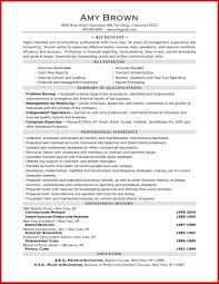 New Accounting Resume Samples Free Mailing Format