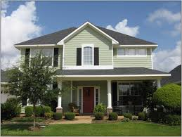 exterior home painting samples. elegant white wall and beautiful gray rooftop plus amazing house color schemes brown door exterior home painting samples