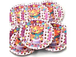 <b>Одноразовые тарелки Эврика N</b> 32 Котенок с тортом 190mm ...
