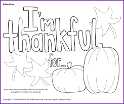 Coloring Im Thankful For Kids Korner Biblewise Coloring