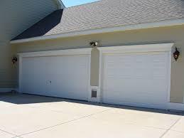 white garage door molding
