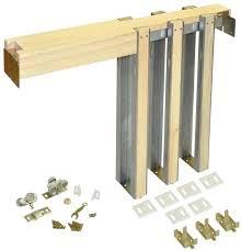 hardware series pocket door frame for doors up to in x home depot canada pocket door frame