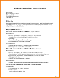 Executive Administrative Assistant Resume Template Sales Assistant Resume Sample Free Administrative 88