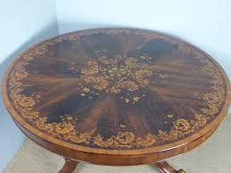 antique superior quality marquetry inlaid circular round large rosewood centre center hall dining table c 1860 396590 ingantiques co uk