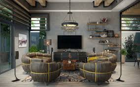 Industrial Living Room Types Of Industrial Loft Apartment Designs Which Applied With