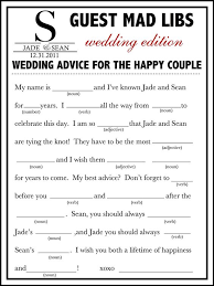 guest book template free mad libs wedding guest book