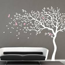 white tree wall decal nursery wall decal baby girl wall decals kids room wall decor na on tree wall art for baby nursery with white tree wall decal nursery wall decal from iwalldecals on etsy
