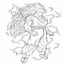 Kleurplaat Goku Super Saiyan 3 Kleurplaatarchiefnl