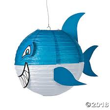 shark paper lanterns jawsome shark paper lanterns