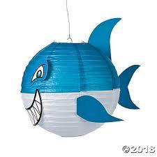 shark paper lanterns jawsome shark paper lanterns