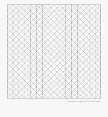 Isometric Drawing Graph Paper Motif Transparent Cartoon