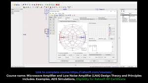 Smith Chart Simulation Software Smith Chart Matching Circuit Overall Gain Tutorial Using Advanced Design System Ads Simulation