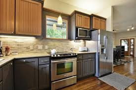 image of two tone kitchen cabinets trend ideas