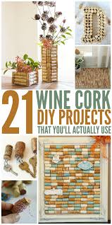 Wine Bottle Cork Designs 21 Wine Cork Crafts Youll Actually Use