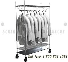 Lab Coat Rack Gorgeous Wire Hanging Clothing Racks Adjustable Shelves Store Hospital Lab