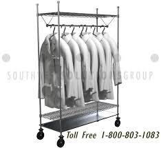 Lab Coat Rack Gorgeous Wire Hanging Clothing Racks Adjustable Shelves Store Hospital Lab