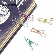 Office Binding Supplies <b>5 Colors</b> Hollow Out <b>Metal</b> Binder <b>Retro</b> Fish ...