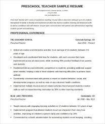 Preschool Teacher Resume Do 5 Things