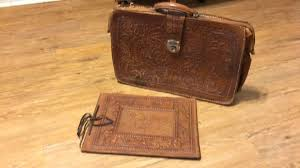 vintage western 1950 s tooled leather briefcase and picture al cur 12