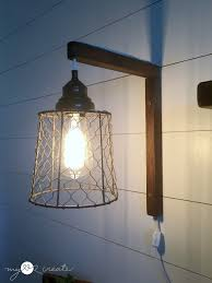 lighting diy. DIY Plug-in Sconces, From Pendant Lights, Tutorial At MyLove2Create Lighting Diy