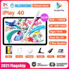 2021 Flagship】 Máy tính bảng Alldocube iPlay 40 8GB RAM 128GB ROM Unisoc  Tiger T618 Bộ xử lý 2000x1200 FHD Màn hình 10.4 inch Dual 4G LTE Android 10  Thiết kế giao
