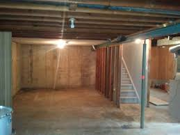 Perfect Unfinished Basement All Images Ganecovillage To Modern Design