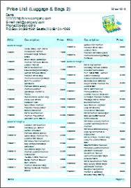 Make A List Com How To Make A Price List