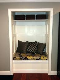 entryway closet ideas converted to bench for the home front entrance door