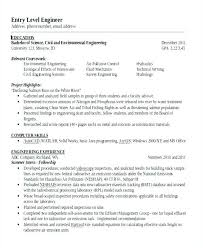 Entry Level Civil Engineer Resume Awesome Entry Level Engineering Resume Entry Level Electrical Engineer