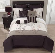 graceful 9 piece fl taupe comforter set