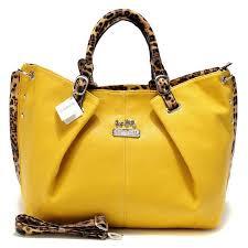 ... czech coach madison leopard large yellow satchels acm 36aab 49321 ...