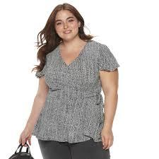 Evri Size Chart Plus Size Evri Knit Faux Wrap Top Womens Size 3xl Lt