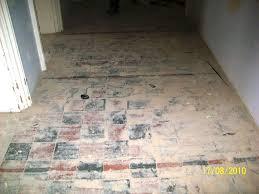 school tile floor.  Tile Leatherhead Quarry Tiles Before Restoration To School Tile Floor I