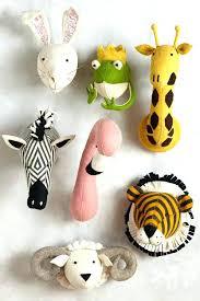 animal head wall mount for nursery heads decor by deer stuffed amazing