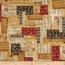 15 best quilt ideas images on Pinterest | Print fabrics, Accent ... & All That Jazz Metatllic Music Collage Holiday Fabric Adamdwight.com