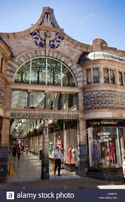 art nouveau buildings in uk. stock photo - uk, england, norfolk, norwich, entrance to art nouveau royal arcade covered shopping buildings in uk
