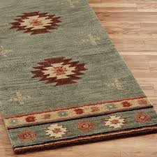 decoration western bathroom rugs orange southwestern decor c bath carpet runners bathrooms design style wool